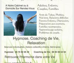 Coach de Vie, Hypnose, Thérapie Brève dans le 06 Alpes-Maritimes à Cannes