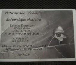 Naturopathie, iridologie, réflexologie plantaire dans le 07 Ardèche à Joyeuse