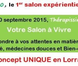 Thérapissimo Salon les 19 et 20 septembre 2015 54 Lorraine - Les Pont à Mousson