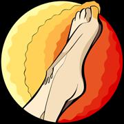 Reflex sympathetic dystrophy of the lower limb