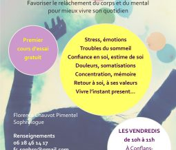 Cours de sophrologie hebdomadaire 78700 Conflans-Sainte-Honorine