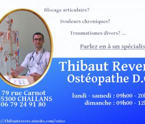 Ostéopathe, posturopathe, coach sportif dans le 85 Vendée à Challans